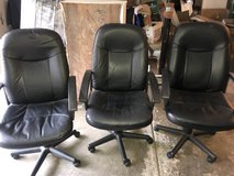 Black Executive Office Desk Chairs - 3 Available in Aurora, Illinois
