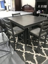 Gray Counter Height Table & 4 Chairs in Beaufort, South Carolina