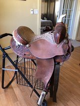 "Saddle Tex Tan 14"" Barrel racer in 29 Palms, California"