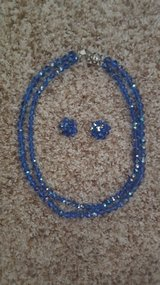 Blue Crystal Necklace w/matching earrings in Chicago, Illinois