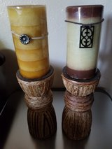 """2 Pillar Candle Holders (9"""") - Candles Not Included in Fort Carson, Colorado"""