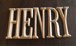 'Henry' Letters in Bolingbrook, Illinois