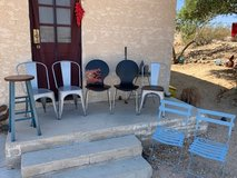 Lot of 8 Assorted Chairs: Dining/Side; Barstool; Patio - Contemporary, Industrial, Retro, Rustic in 29 Palms, California