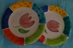 "Six very colorful decorative dishes with 8"" dia.  REDUCED PRICE in Kingwood, Texas"
