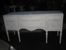 so shabby /cottage chic carved VINTAGE buffet in Naperville, Illinois
