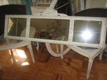 VINTAG shabby / cottage chic LOOOOOOONG mirror with etchings in Naperville, Illinois