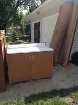 Two FREE CABINETS with Formica tops in Kansas City, Missouri