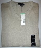 New! Beige Structure V-Neck Sweater ~Men's Sz: Med in Westmont, Illinois
