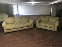 Matching, Tan Couch/Loveseat Combo in Stuttgart, GE