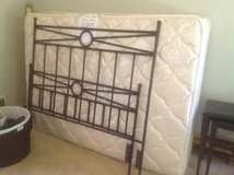 Full Wrought Iron Bed w/ mattress and box spring in Bartlett, Illinois