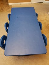 Adjustable classroom table with 6 chairs in Camp Lejeune, North Carolina