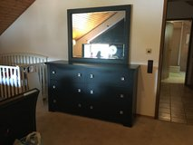 Bedroom Furniture - Dresser, Mirror, Chest, and Night Stands in Ramstein, Germany