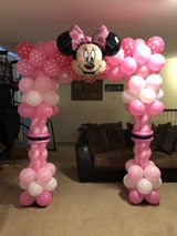 Minnie Mouse & Baby's Shark balloons in Baytown, Texas