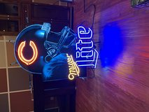 Chicago Bears Miller Lite Neon Sign in Westmont, Illinois
