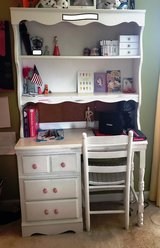 Student Desk with Attached Hutch and Chair in Camp Lejeune, North Carolina