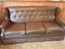 Three Cushion Couch with Pull Out Bed in Aurora, Illinois