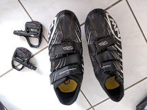 Men's road bike shoes with clip on Shimano pedals in Ramstein, Germany