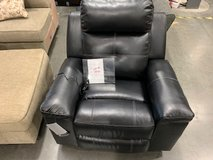 Black Leather Power Recliner Just Added to Tent in Fort Campbell, Kentucky