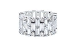 CLEARANCE***BRAND NEW* Baguette Swarovski Elements Eternity Ring: 9*** in Kingwood, Texas