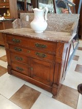 Walnut Marble Top Wash Stand in Fort Leonard Wood, Missouri