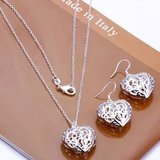 CLEARANCE***BRAND NEW***Silver Heart Earrings And Pendant Set*** in Houston, Texas