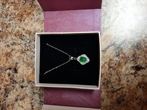 Jade and sterling silver necklace in Conroe, Texas