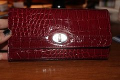 CLEARANCE ***LIKE NEW Crocodile Style Red Checkbook Wallet*** in Kingwood, Texas