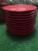 4 canister and 12 plates red color in Kingwood, Texas