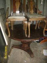 very old table and chairs 1800,s in Lakenheath, UK