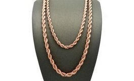 "CLEARANCE ***BRAND NEW***14K Rose Gold Plated Rope Chain Necklace***18"" in The Woodlands, Texas"