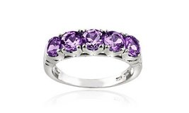 ****BRAND NEW***1.25 CTTW Amethyst Half-Eternity Ring in Sterling Silver****SZ 8 in Kingwood, Texas