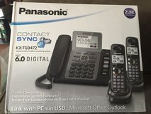 Panasonic 2-line telephone with 2 extended phones in Naperville, Illinois