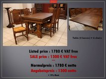 Freddy's - Renaissance table + 6 chairs in Ramstein, Germany