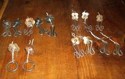 14 VINTAGE MEXICAN DRAWER PULLS WITH BACKPLATES in Bellevue, Nebraska