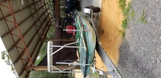 Boat motor and trailer in Eglin AFB, Florida