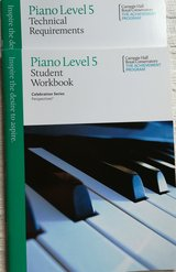 Piano books workbook and technical requirements in Plainfield, Illinois