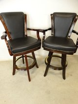 Black Leather Barstools in Pasadena, Texas