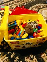Megablocks Big Bin with lego table in Bartlett, Illinois