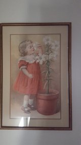"Vintage ""The Easter Lilies"" picture in Plainfield, Illinois"