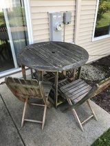 Folding Patio Table Set in Aurora, Illinois