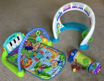 Fisher price kick and play piano & bright beats smart touch in Yorkville, Illinois