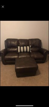 Brown Leather Couch Set in Kingwood, Texas