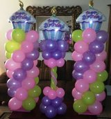 Happy Birthday balloon columns & More in Baytown, Texas