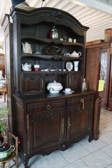 tiger oak Louis XV style dining room hutch with plate board in Wiesbaden, GE