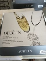 New Box of 4 Champagne Flutes - a Taste of Dublin in Plainfield, Illinois