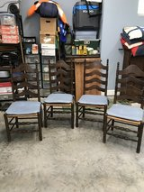 4 ladder back chairs in Conroe, Texas