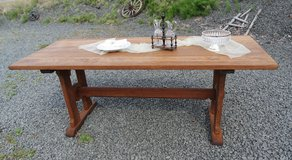 refectory table made of solid oak in Ramstein, Germany