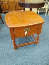 Oak End Table with Drawer in Batavia, Illinois