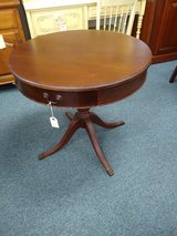 Antique Round Parlor Table in Bartlett, Illinois