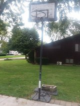 Basketball hoop in Joliet, Illinois
